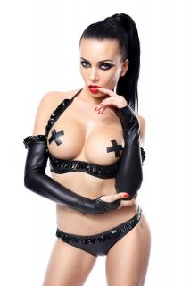 schwarze Armstulpen Getrude von Demoniq Hard Candy Collection