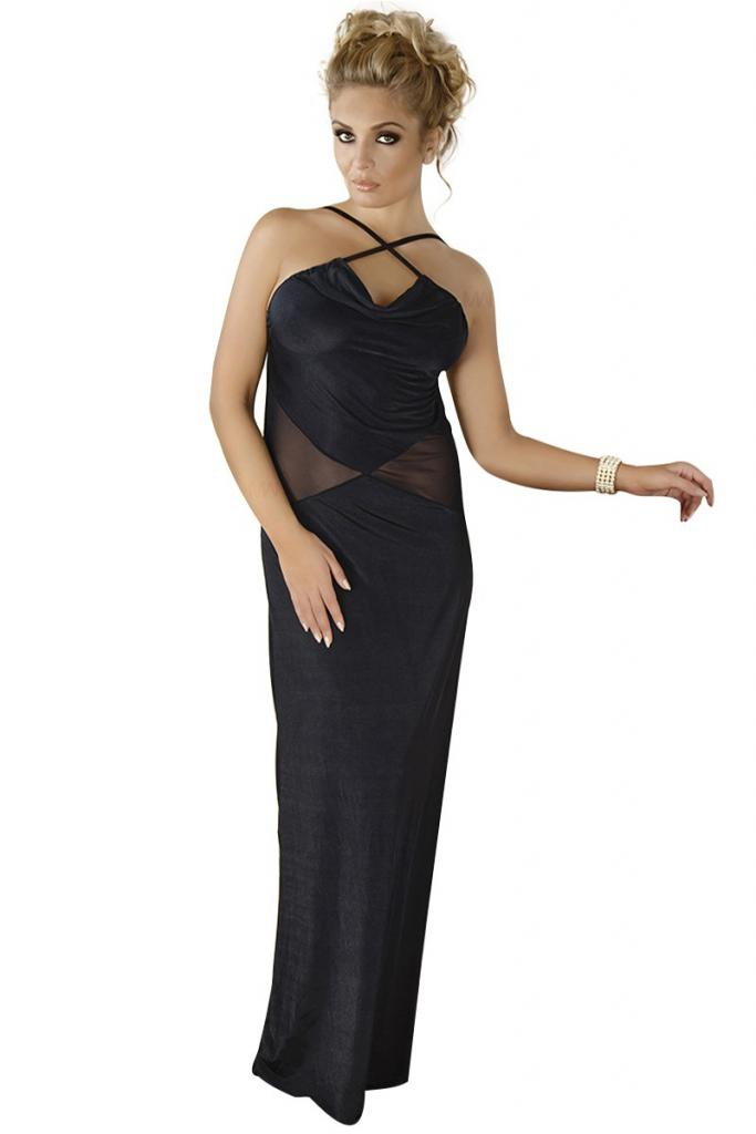 schwarzes langes Kleid M/1068 von Andalea | Babydolls ...